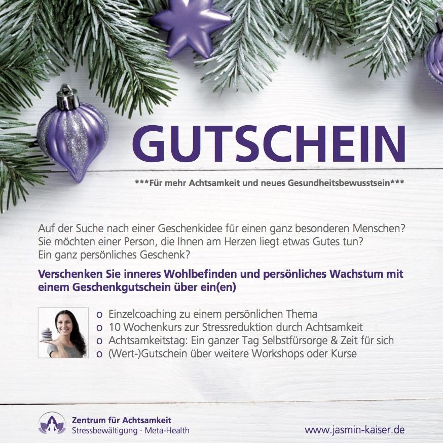 Gutscheine verschenken zentrum f r achtsamkeit - Gutschein bader dezember 2016 ...